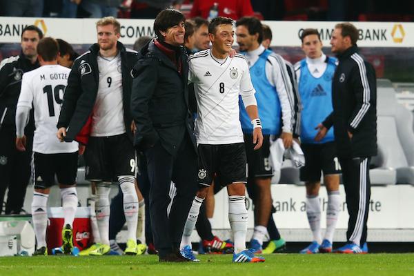 Joachim Low Mesut Ozil Germany Republic of Ireland World Cup Qualifier 10112013