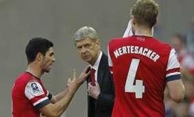 Mikel Arteta Arsene Wenger Arsenal