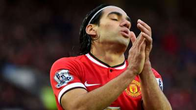 Radamel Falcao Premier League Manchester United v Leicester