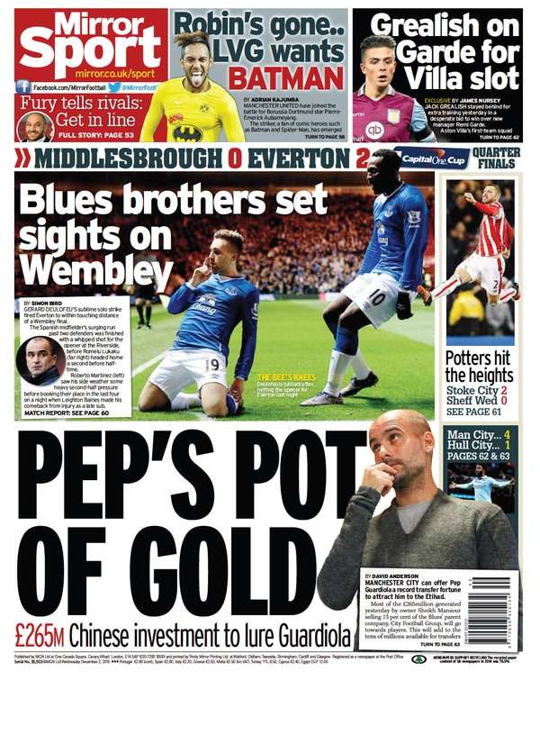 Daily Mirror backpage 02122015