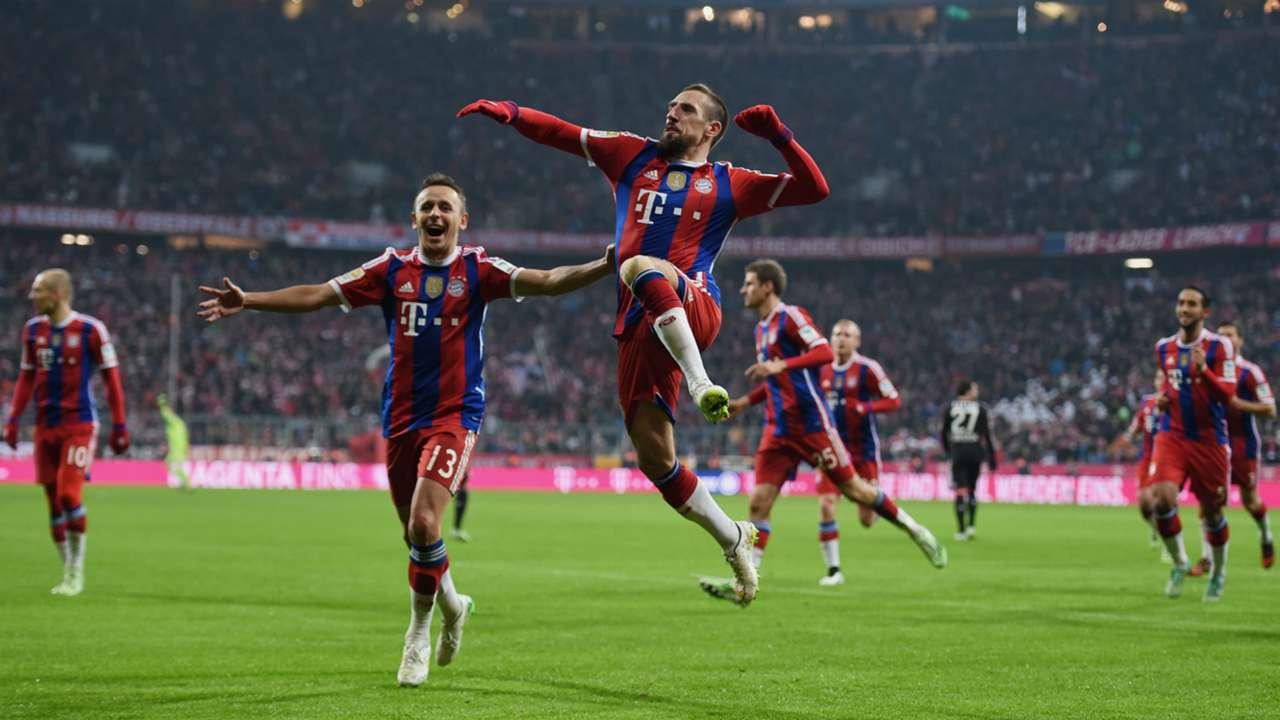 Franck Ribery Bayern Munich Bayer Leverkusen Bundesliga 06122014