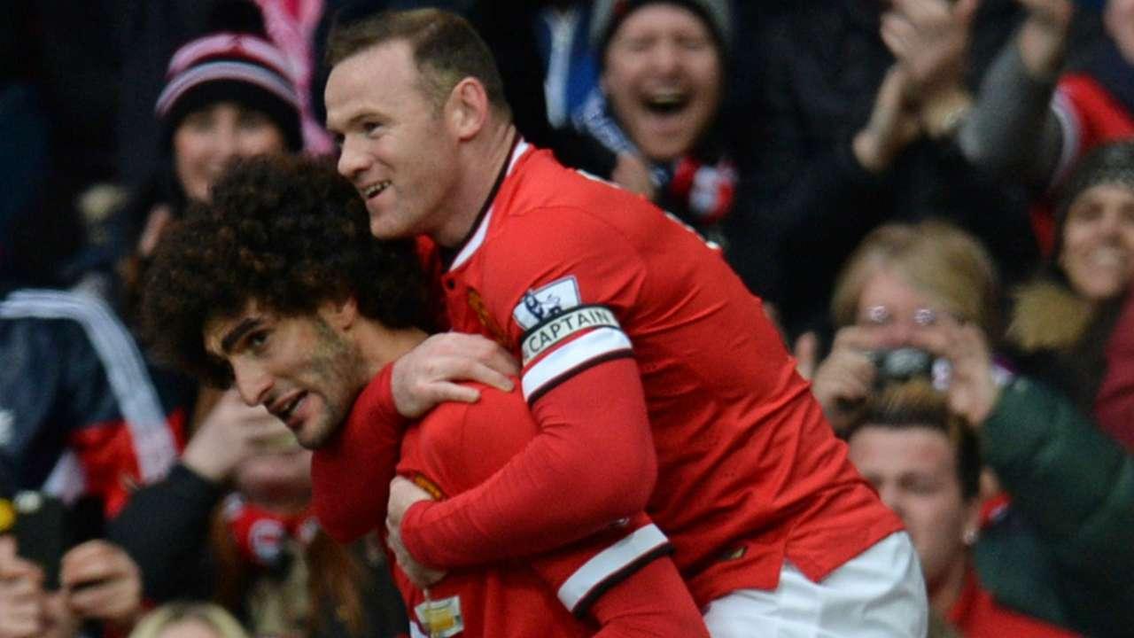 Wayne Rooney & Marouane Fellaini Premier League Manchester United v Tottenham 150315