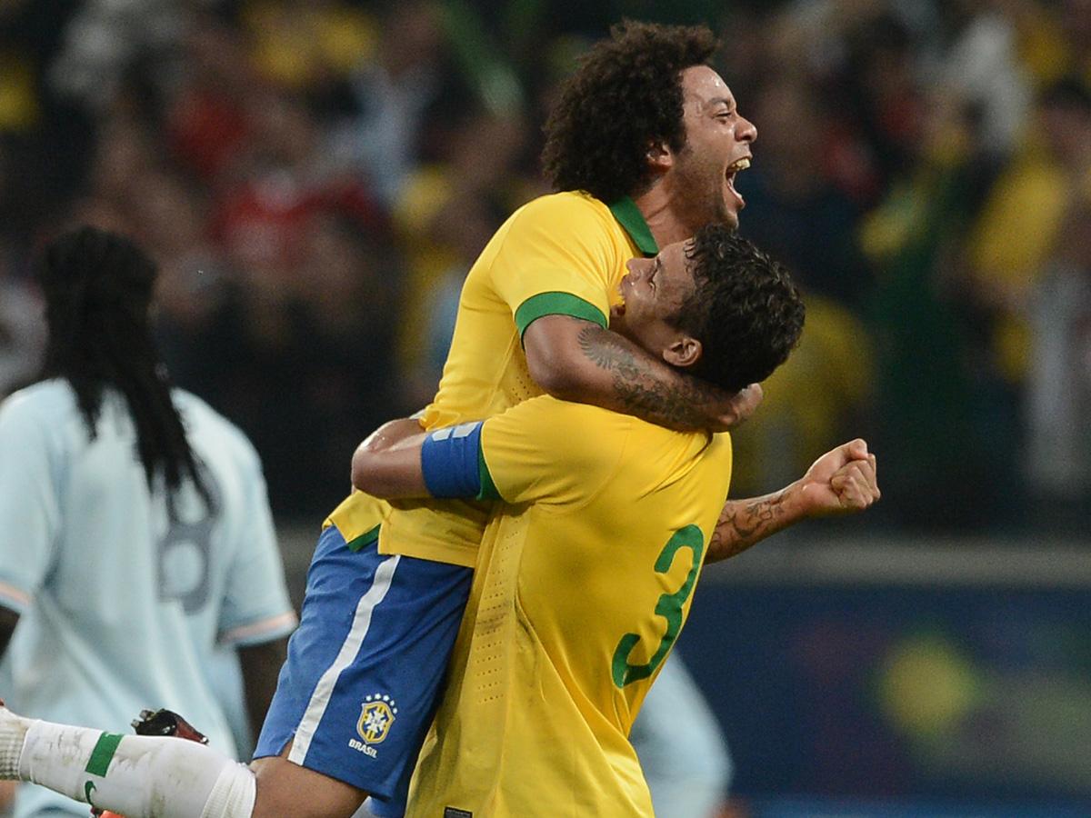 Brazil v. France - Thiago Silva, Marcelo