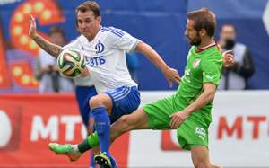 Luke Wilkshire Dinamo Moscow v Rubin Kazan Russian Premier League 2013-14