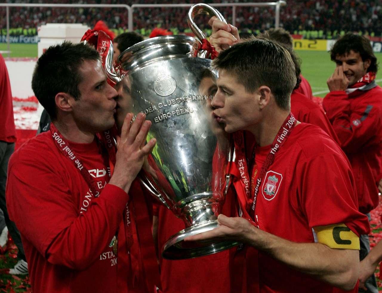 Steven Gerrard, Jamie Carragher | Liverpool 2005