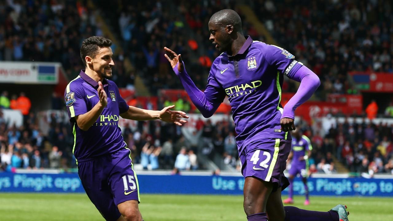 Yaya Toure Jesus Navas Manchester City Premier League