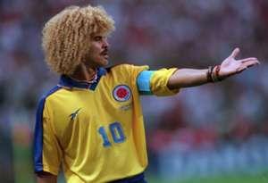 Former Colombia midfielder Carlos Valderrama