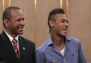 NEYMAR AND HIS FATHER (Getty)
