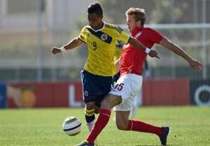 Joao Rodriguez Eric Dier Colombia England Toulon Tournament 30052014