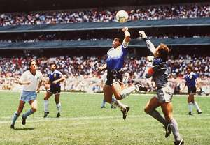 Diego Maradona Hand of God World Cup 1986
