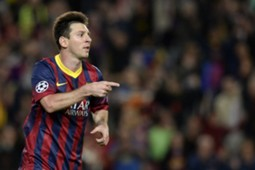 Lionel Messi Barcelona Milan Champions League 11062013