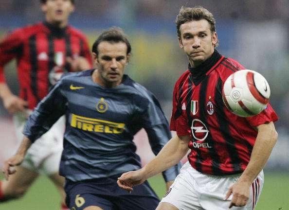 Andriy Shevchenko of Milan vs Cristiano Zanetti of Inter 2003