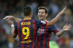Alexis Sanchez Lionel Messi Barcelona Osasuna La Liga 03162014