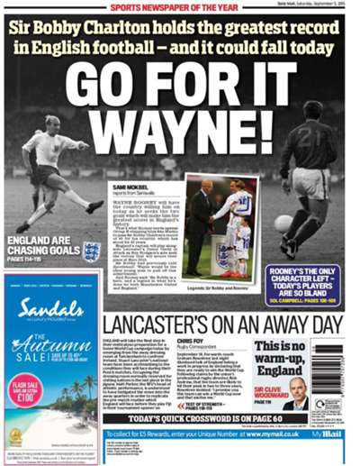 Daily Mail backpage 05-09-2015
