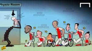 CARTOON Arsenal injuries