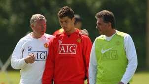 Sir Alex Ferguson Cristiano Ronaldo Carlos Queiroz Manchester United