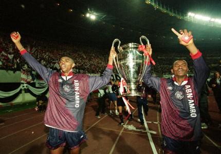 Nwankwo Kanu & Finidi George lift UCL in 1995