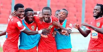 Seidu Bancey with his Kotoko team-mates