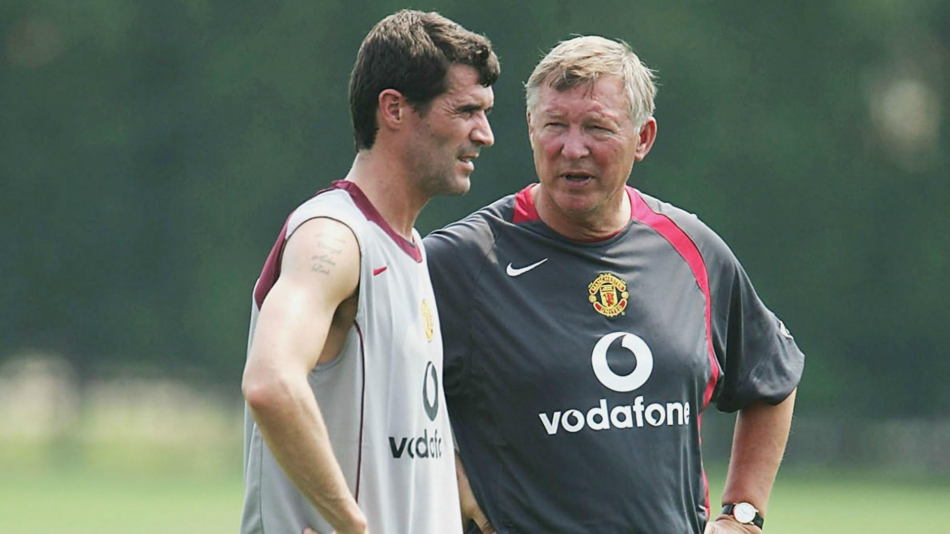 Roy Keane Alex Ferguson Manchester United 220704