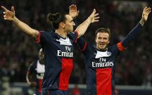 Ligue 1 : Zlatan Ibrahimovic & David Beckham (Paris SG vs Stade Brestois)