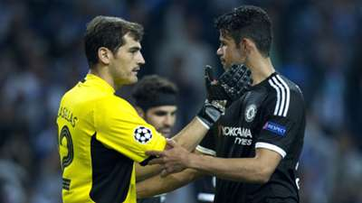 Iker Casillas Diego Costa Porto Chelsea Champions League 29092015