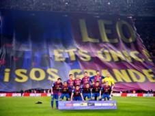 Banner Lionel Messi Barcelona Nou Camp