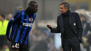 Mario Balotelli Jose Mourinho Inter
