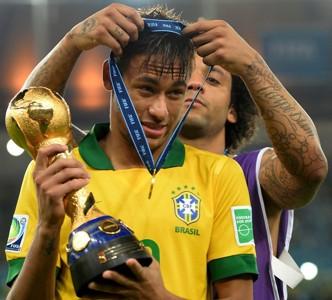 Neymar Marcelo Copa Confederaciones Brasil