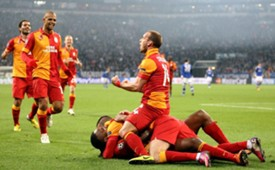 UCL: Schalke vs Galatasaray players celebration