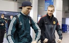 Cristiano Ronaldo y Vidic
