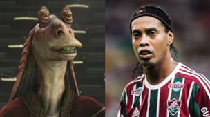 Star Wars/footballer twins: Jar Jar Binks Ronaldinho