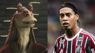 Star Wars/footballer twins: Jar Jar Binks Ronaldinho