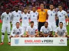 The England team England v Peru  International Friendly 05312014
