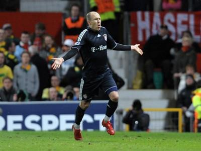 Champions League Manchester United FC Bayern Munchen Arjen Robben 07042010