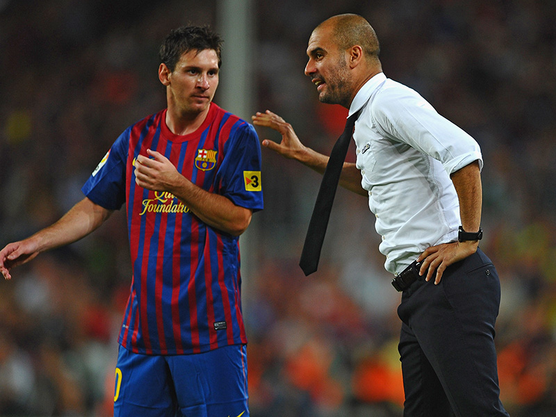 Lionel Messi Pep Guardiola Barcelona
