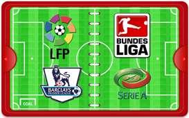 La Liga - Bundesliga - Serie A - Premier League