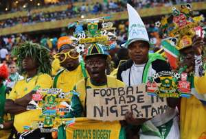 Nigeria and South Africa fans