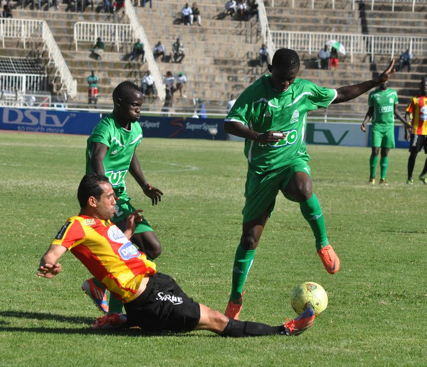 Gor Mahia players in action against Esperance.