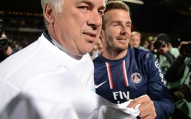 Ligue 1 : Carlo Ancelotti & David Beckham (Paris SG)