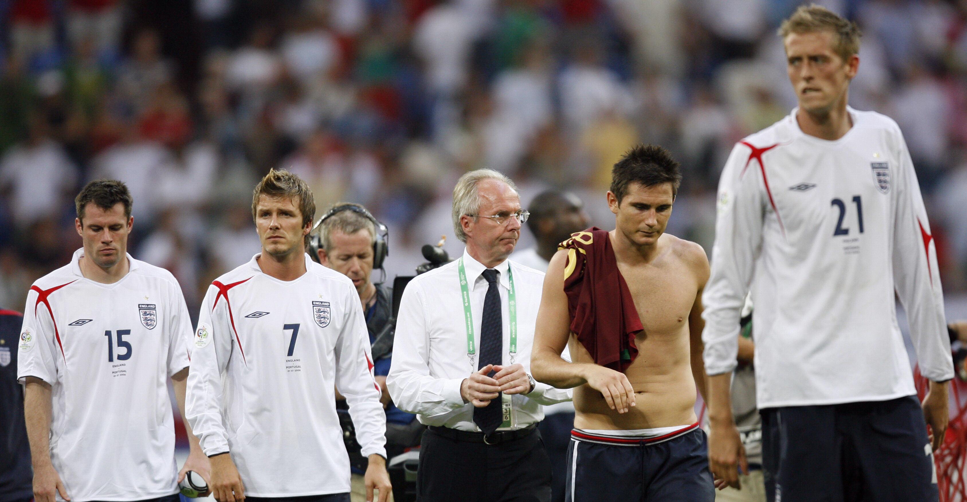 Carragher, David Beckham, Sven-Goran Eriksson, Lampard, Crouch_England