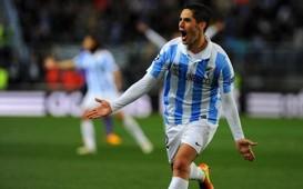 Isco celebrates scoring for Malaga (Goal 50)