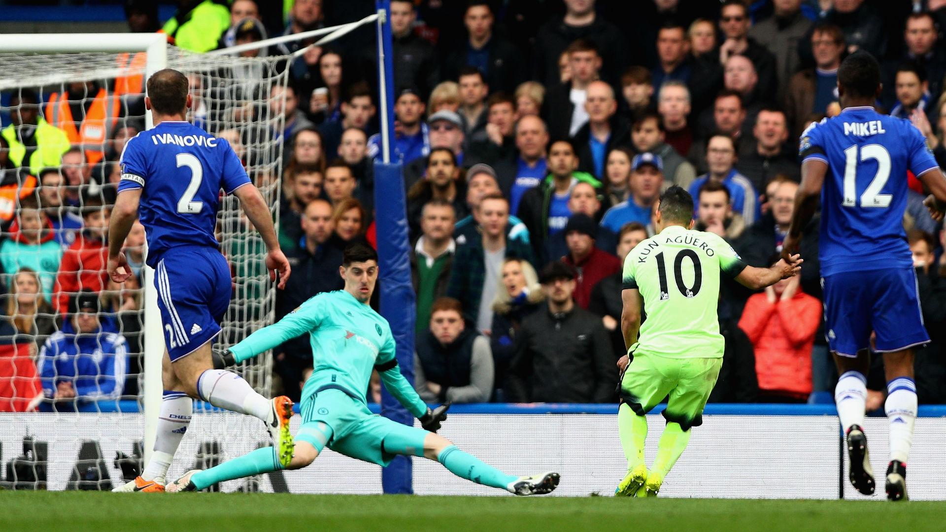 Sergio Aguero Premier League Chelsea v Man City 160416