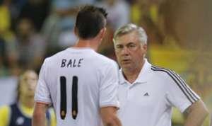 Gareth Bale y Carlo Ancelotti - Real Madrid