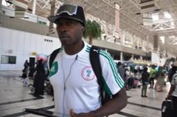 Nigeria arrive in Addis Ababa: Shola Ameobi