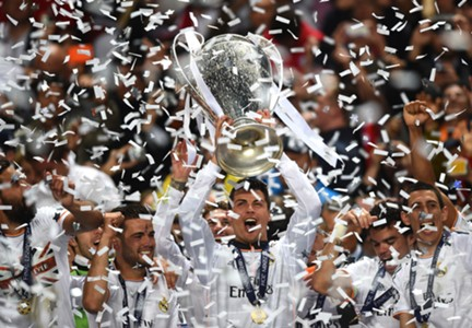 Cristiano Ronaldo Trophy Real Madrid Atletico Madrid Champions League final 05242014