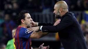 Xavi Hernandez & Pep Guardiola