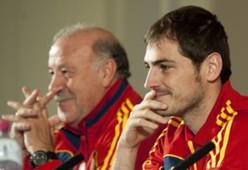 Vicente Del Bosque e Iker Casillas, España
