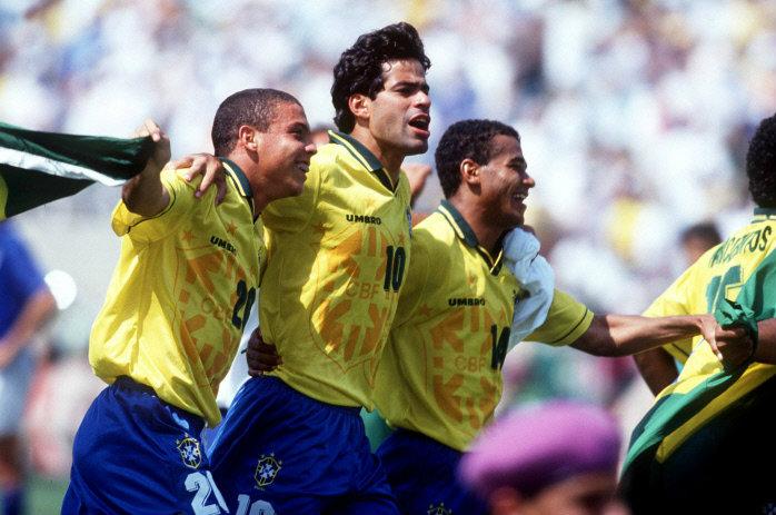 Ronaldo Rai Cafu Brazil World Cup 1994