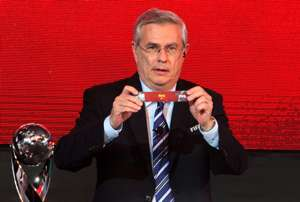 Mustapha Fahmy, FIFA Director of Competitions, the official draw of the FIFA U-17 World Cup UAE 2013, 26.8.2013