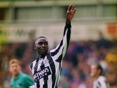 Andrew Cole of Newcastle United